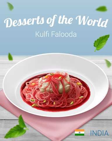 Kulfi Falooda World Dessert Badge - Bejeweled Stars