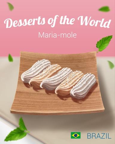 Maria-Mole World Dessert Badge - Pogo Daily Sudoku