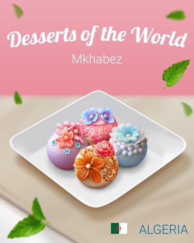 Mkhabez World Dessert Badge - Mahjong Safari HD