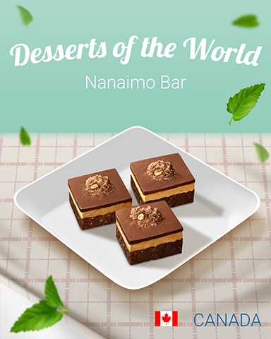 Nanaimo Bar World Dessert Badge - A Way With Words