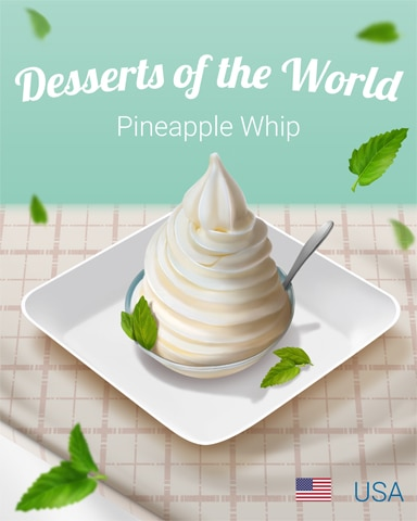Pineapple Whip World Dessert Badge - Peggle Blast HD