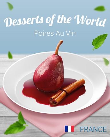 Poires Au Vin World Dessert Badge - Canasta HD