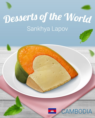 Sankhya Lapov World Dessert Badge - Mahjong Garden HD