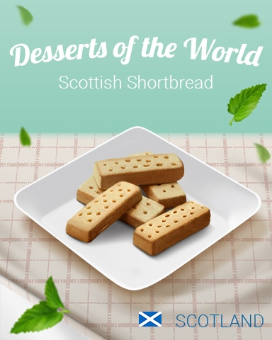 Scottish Shortbread World Dessert Badge - Turbo 21 HD