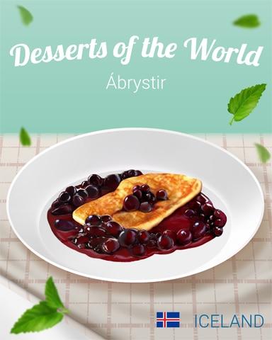 Ábrystir World Dessert Badge - Mahjong Garden HD