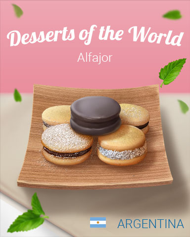 Alfajor World Dessert Badge - Pogo Mini Golf