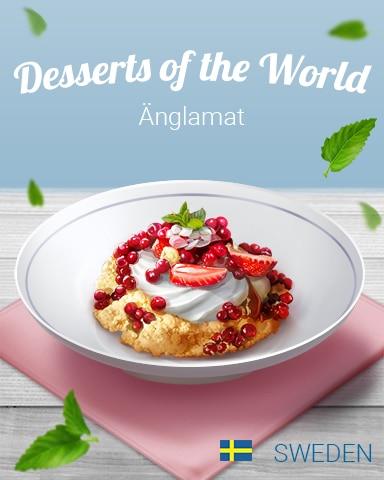 Änglamat World Dessert Badge - Word Whomp HD