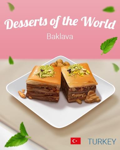 Baklava World Dessert Badge - Jungle Gin HD
