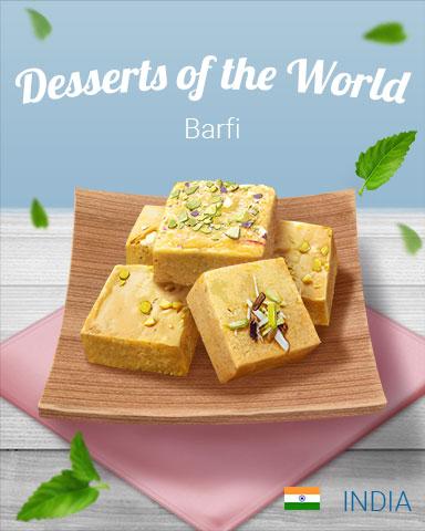 Barfi World Dessert Badge - Word Whomp HD