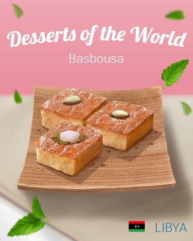 Basbousa World Dessert Badge - First Class Solitaire HD
