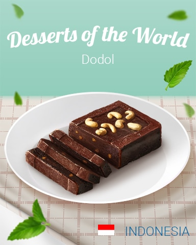 Dodol World Dessert Badge - Dice City Roller HD