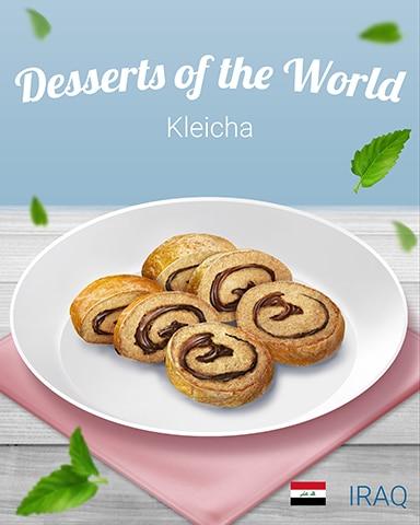 Kleicha World Dessert Badge - Bookworm HD
