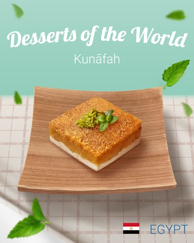 Kunāfah World Dessert Badge - Poppit!™ HD