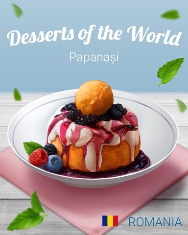 Papanași World Dessert Badge - Spades HD