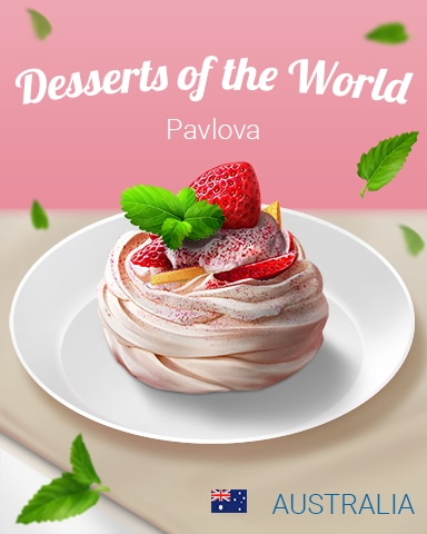 Pavlova World Dessert Badge - Jungle Gin HD