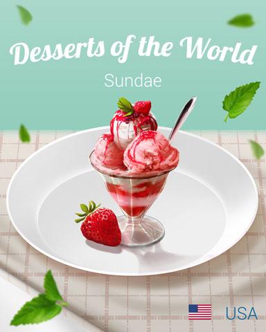Sundae World Dessert Badge - Snowbird Solitaire
