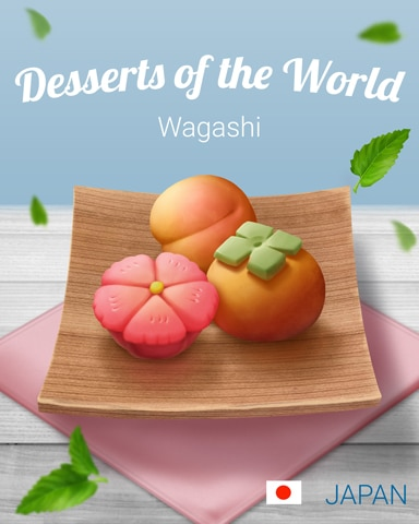 Wagashi World Dessert Badge - Word Search Daily HD