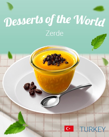 Zerde World Dessert Badge - Poppit! Bingo