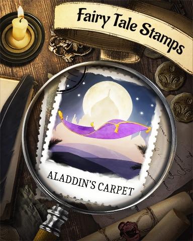 Aladdin's Carpet Fairy Tale Badge - Tri-Peaks Solitaire HD