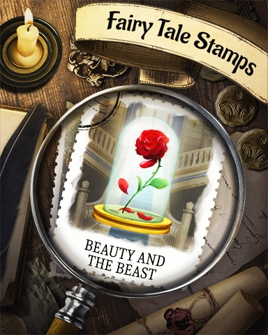 Beauty And The Beast Fairy Tale Badge - First Class Solitaire HD