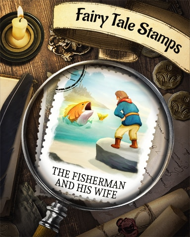 Fisherman And His Wife Fairy Tale Badge - Pogo Mini Golf