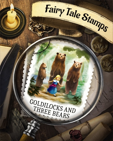 Goldilocks And The Three Bears Fairy Tale Badge - Poppit!™ HD
