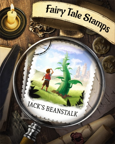 Jack And The Beanstalk Fairy Tale Badge - World Class Solitaire HD