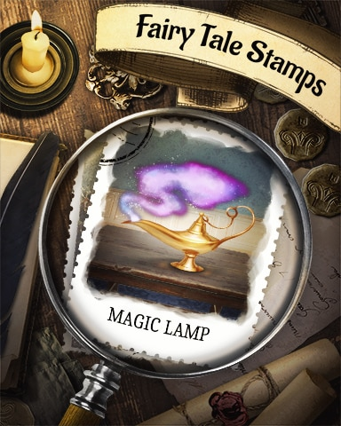 Magic Lamp Fairy Tale Badge - Sweet Tooth Town