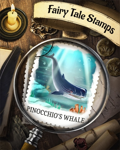 Pinocchio And The Whale Fairy Tale Badge - Bookworm HD