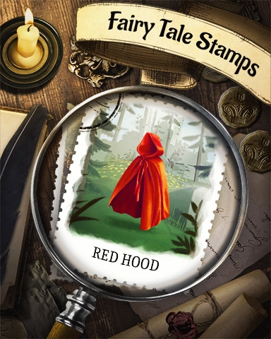 Little Red Riding Hood Fairy Tale Badge - Bejeweled Stars