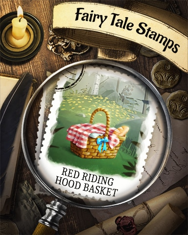 Red Riding Hood's Basket Fairy Tale Badge - Snowbird Solitaire
