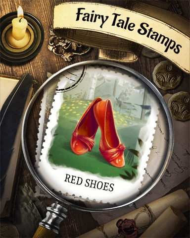 The Red Shoes Fairy Tale Badge - World Class Solitaire HD