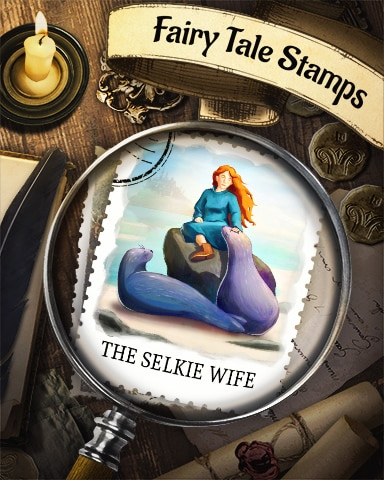 The Selkie Wife Fairy Tale Badge - Spades HD