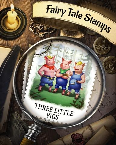 Three Little Pigs Fairy Tale Badge - Mahjong Safari HD