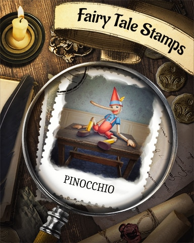 Pinocchio Fairy Tale Badge - Payday Freecell HD