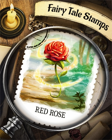 Red Rose Fairy Tale Badge - Crossword Cove HD