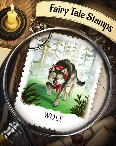 Big Bad Wolf Fairy Tale Badge - Quinn's Aquarium