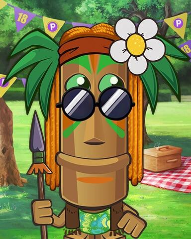 Tiki Costume Cookout Badge - Jungle Gin HD