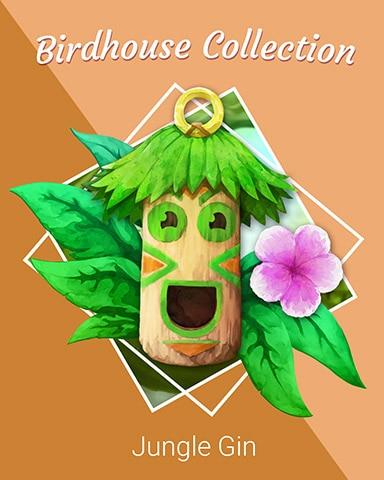 Tiki Tower Birdhouse Badge - Jungle Gin HD
