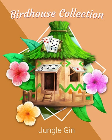 Cozy Card Hut Birdhouse Badge - Jungle Gin HD