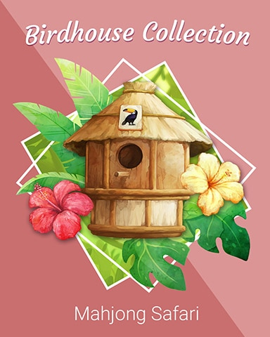 Thatch Hut Birdhouse Badge - Mahjong Safari HD