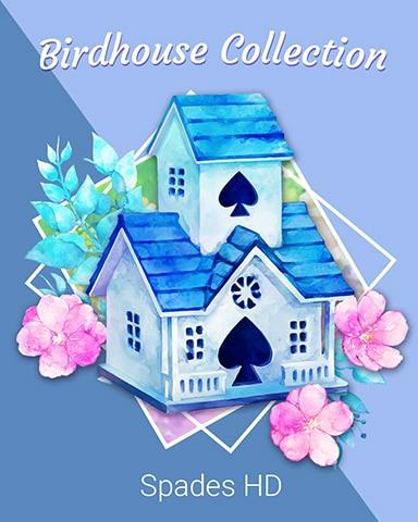 Blue Beauty Birdhouse Badge - Spades HD