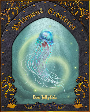 Box Jellyfish Poisonous Creatures Badge - First Class Solitaire HD
