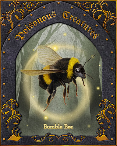 Bumble Bee Poisonous Creatures Badge - Claire Hart: Secret In The Shadows