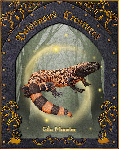 Gila Monster Poisonous Creatures Badge - Dice City Roller HD