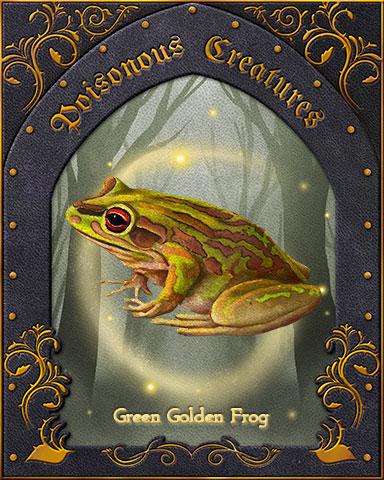 Green Golden Frog Poisonous Creatures Badge - Poppit! Bingo