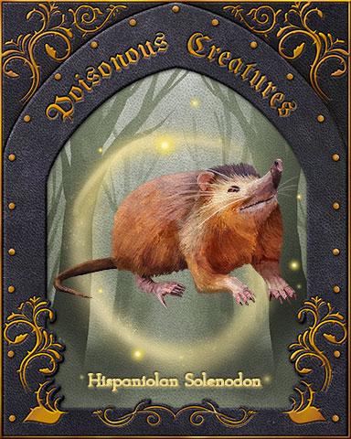 Hispaniolan Solenodon Poisonous Creatures Badge - Word Whomp HD
