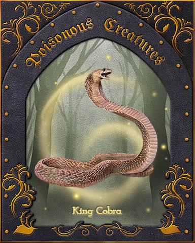 King Cobra Poisonous Creatures Badge - Spades HD