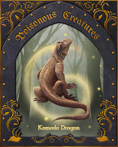 Komodo Dragon Poisonous Creatures Badge - Jungle Gin HD
