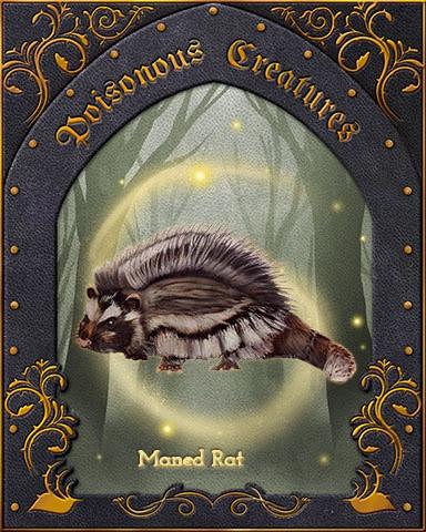 Maned Rat Poisonous Creatures Badge - Mahjong Safari HD